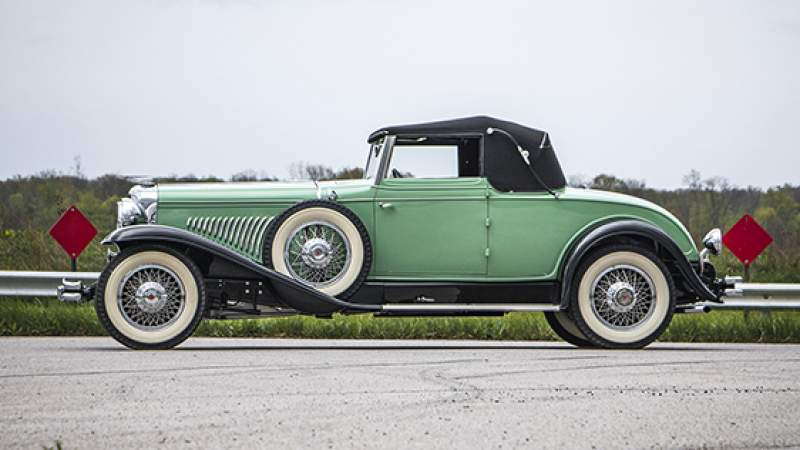 Duesenberg Model J Convertible Coupe by Fleetwood (1929) (foto: Auctions America)